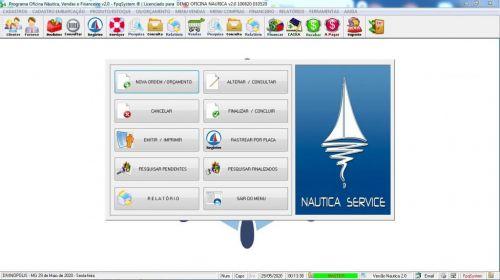 Programa Ordem de Serviço para Oficina Nautica e Embarcação  Financeiro v2.0 - fpqsystem 577198