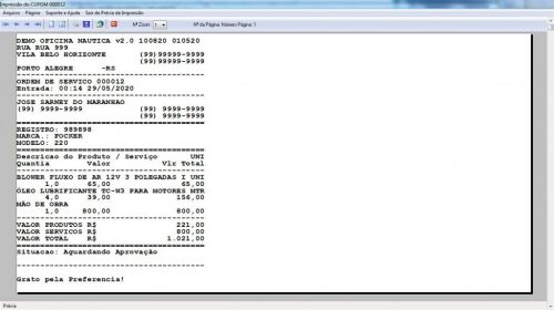 Programa Ordem de Serviço para Oficina Nautica e Embarcação  Financeiro v2.0 - fpqsystem 577205