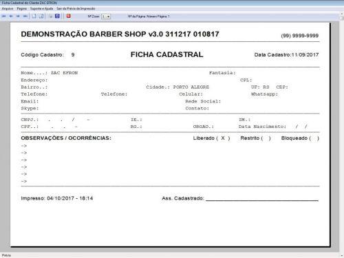 Programa para Barbearia Barbershop Agendamento Vendas e Financeiro v3.0 - Fpqsystem 409002