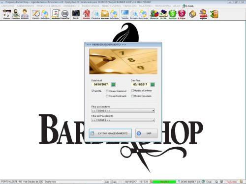 Programa para Barbearia Barbershop Agendamento Vendas e Financeiro v3.0 - Fpqsystem 409004