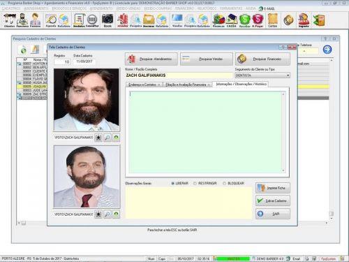 Programa Para Barbearia Barbershop Vendas e Financeiro v4.0 plus - Fpqsystem 409018