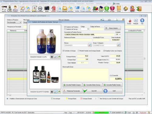 Programa Para Barbearia Barbershop Vendas e Financeiro v4.0 plus - Fpqsystem 409020