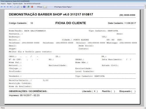 Programa Para Barbearia Barbershop Vendas e Financeiro v4.0 plus - Fpqsystem 409024