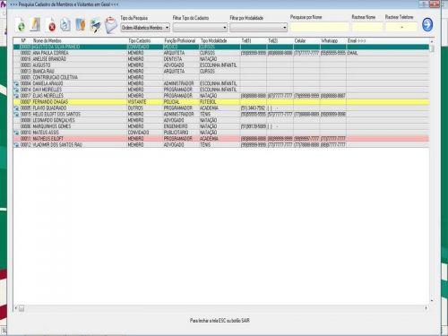 Programa para Gerenciar de Clube Agendamento  Vendas e Financeiro v3.0 Plus Fpqsystem 453599