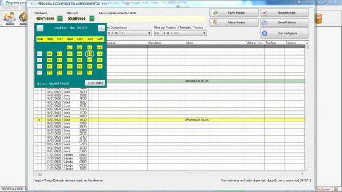 Programa para Gerenciar Studio de Pilates com Agendamento  Financeiro v3.0 Plus - Fpqsystem 580005