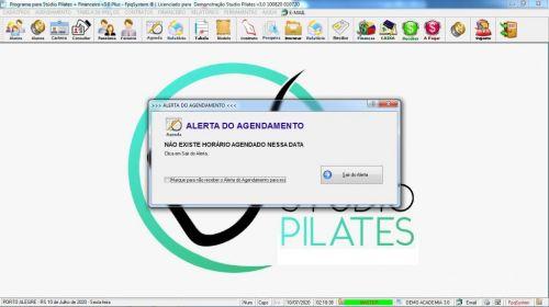 Programa para Gerenciar Studio de Pilates com Agendamento  Financeiro v3.0 Plus - Fpqsystem 580006