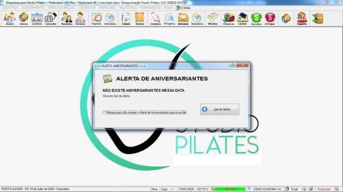 Programa para Gerenciar Studio de Pilates com Agendamento  Financeiro v3.0 Plus - Fpqsystem 580007