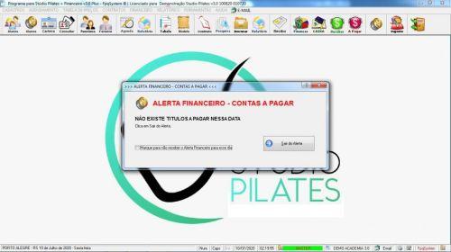 Programa para Gerenciar Studio de Pilates com Agendamento  Financeiro v3.0 Plus - Fpqsystem 580008