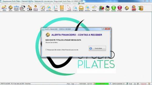 Programa para Gerenciar Studio de Pilates com Agendamento  Financeiro v3.0 Plus - Fpqsystem 580009