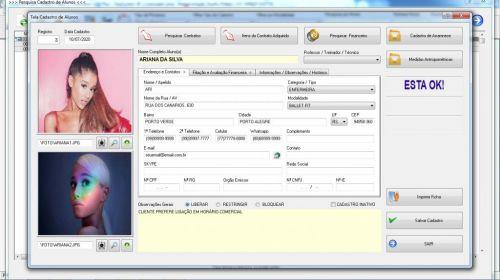 Programa para Gerenciar Studio de Pilates com Agendamento  Financeiro v3.0 Plus - Fpqsystem 580011