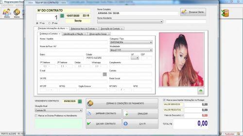 Programa para Gerenciar Studio de Pilates com Agendamento  Financeiro v3.0 Plus - Fpqsystem 580014