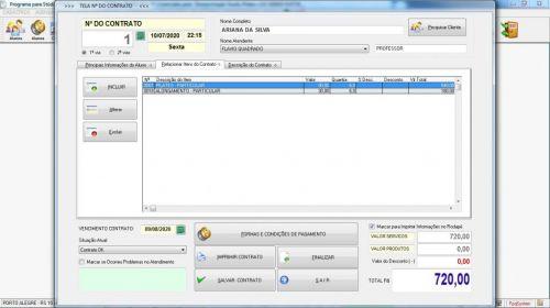 Programa para Gerenciar Studio de Pilates com Agendamento  Financeiro v3.0 Plus - Fpqsystem 580015