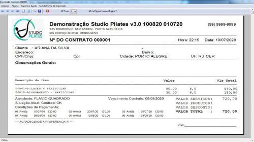 Programa para Gerenciar Studio de Pilates com Agendamento  Financeiro v3.0 Plus - Fpqsystem 580020