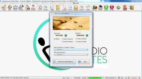 Programa para Gerenciar Studio de Pilates com Agendamento  Financeiro v3.0 Plus - Fpqsystem 580021