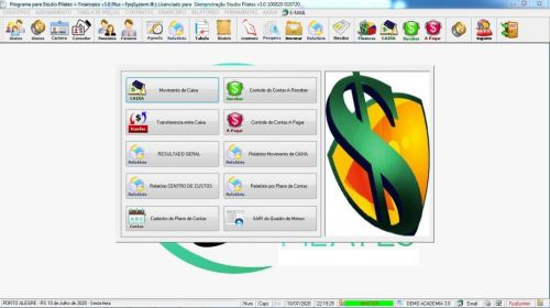 Programa para Gerenciar Studio de Pilates com Agendamento  Financeiro v3.0 Plus - Fpqsystem 580022