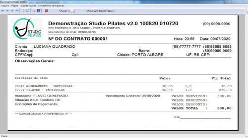 Programa para Gerenciar Studio de Pilates com Agendamento v2.0 - Fpqsystem 579999