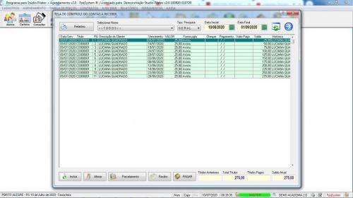 Programa para Gerenciar Studio de Pilates com Agendamento v2.0 - Fpqsystem 580003