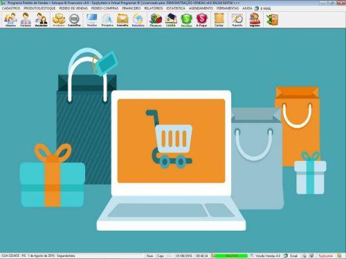 Programa Para Pedido Vendas Estoque e Financeiro V4.0 Plus - Fpqsystem 409235
