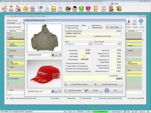 Programa Para Pedido Vendas Estoque e Financeiro V4.0 Plus - Fpqsystem 409236