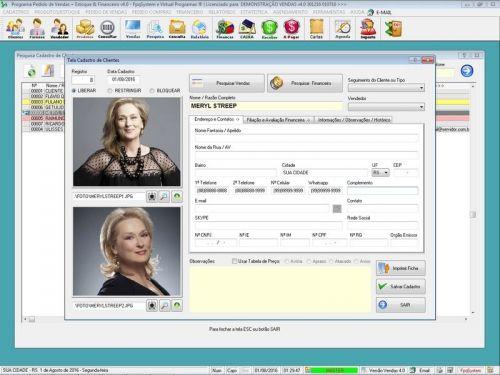 Programa Para Pedido Vendas Estoque e Financeiro V4.0 Plus - Fpqsystem 409237