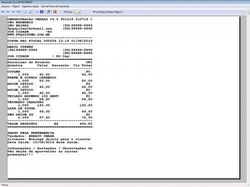 Programa Para Pedido Vendas Estoque e Financeiro V4.0 Plus - Fpqsystem 409239