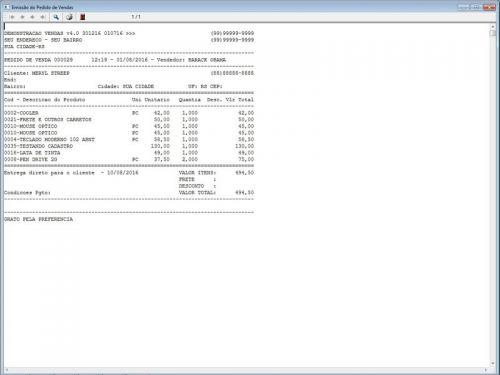 Programa Para Pedido Vendas Estoque e Financeiro V4.0 Plus - Fpqsystem 409242
