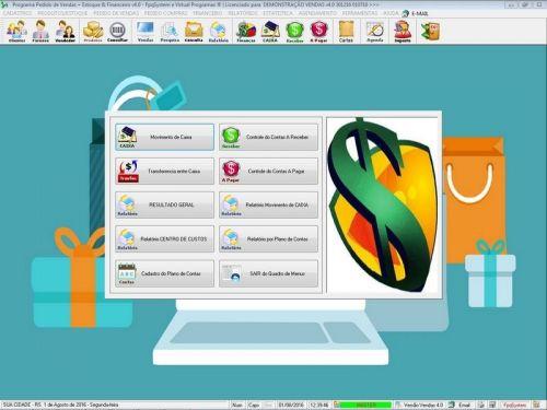 Programa Para Pedido Vendas Estoque e Financeiro V4.0 Plus - Fpqsystem 409243