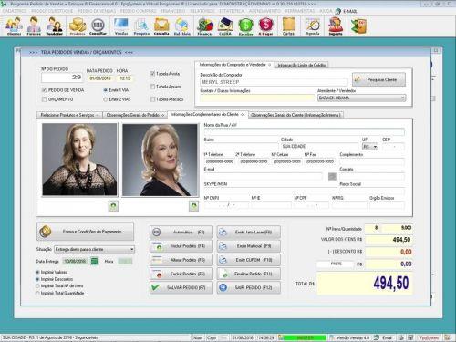 Programa Para Pedido Vendas Estoque e Financeiro V4.0 Plus - Fpqsystem 409244