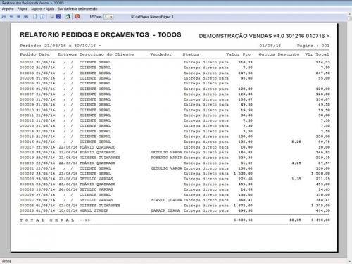 Programa Para Pedido Vendas Estoque e Financeiro V4.0 Plus - Fpqsystem 409248