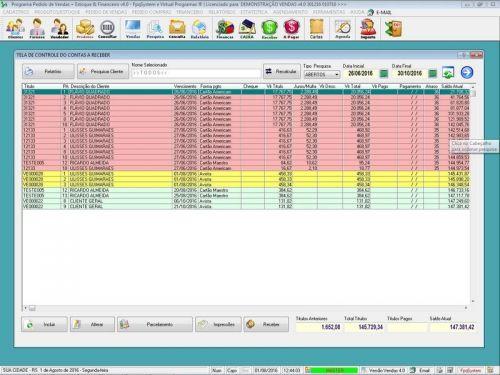 Programa Para Pedido Vendas Estoque e Financeiro V4.0 Plus - Fpqsystem 409254