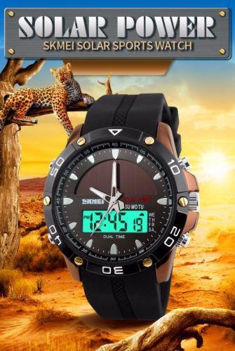 Relógio Solar Dual time Power Military Led Sports Watch 424347