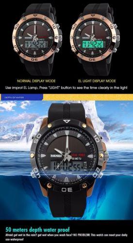 Relógio Solar Dual time Power Military Led Sports Watch 424348