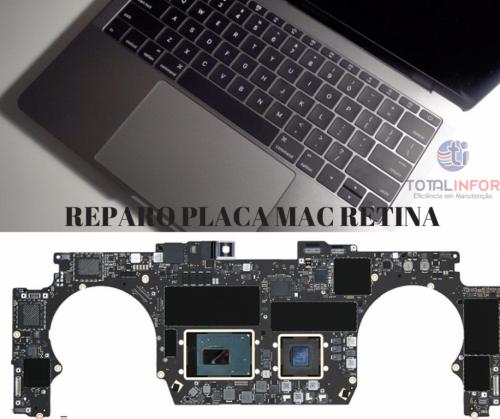 Reparo Macbook Touch Bar - Macbook Retina - Placa Mãe - Placa Logica - Teclado Bateria Total Infor 542447