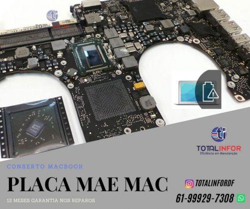 Reparo Macbook Touch Bar - Macbook Retina - Placa Mãe - Placa Logica - Teclado Bateria Total Infor 542449