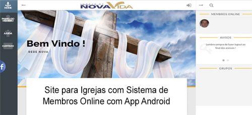 Site Igrejas com administração de membros online com App 362287